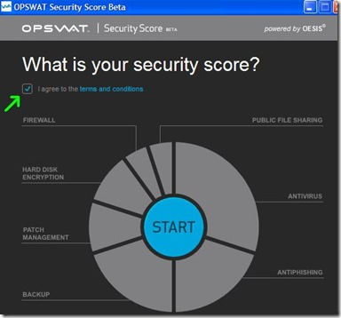 OPSWAT Security Score start test