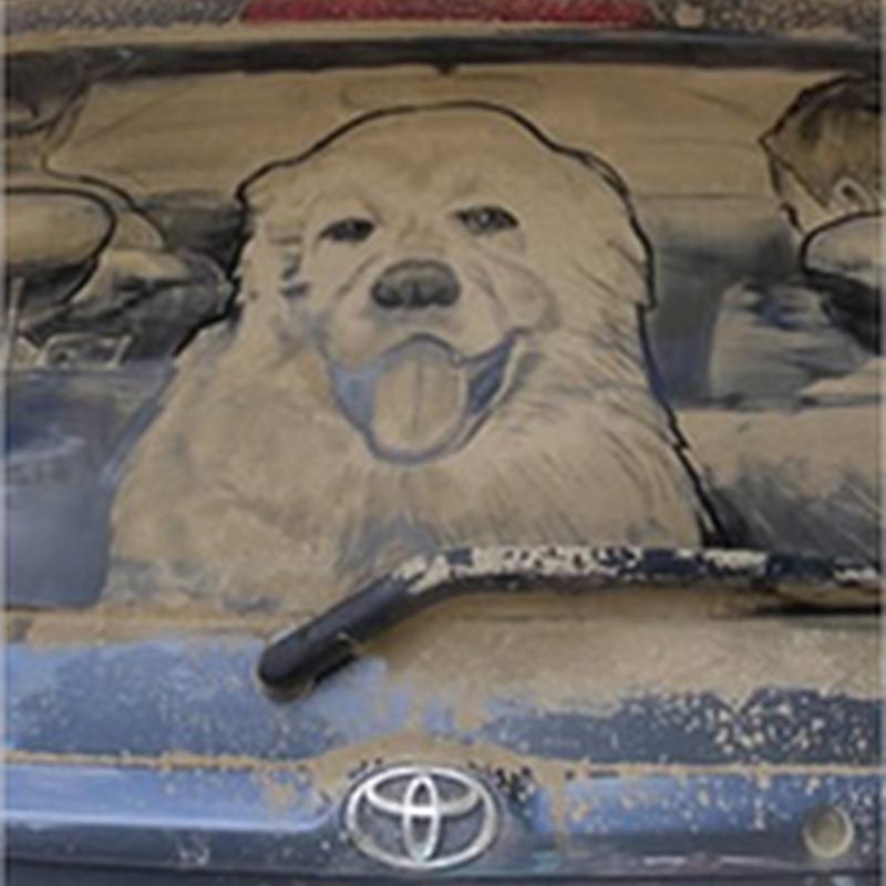 Impresionantes dibujos sobre automóviles sucios