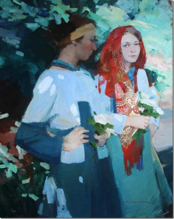 In a garden-Vadim-Suvorov-ENKAUSTIKOS