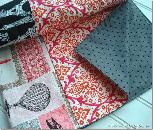 Paris Boutique Baby Quilt {NorthernCottage}