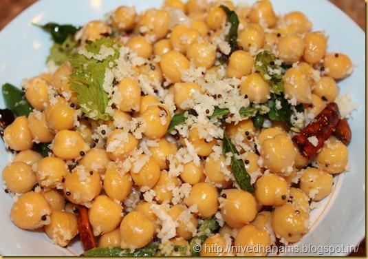 Garbanzo Beans Sundal - IMG_9488