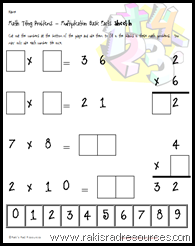 Basic multiplication tiling puzzle - free from Raki's Rad Resources.
