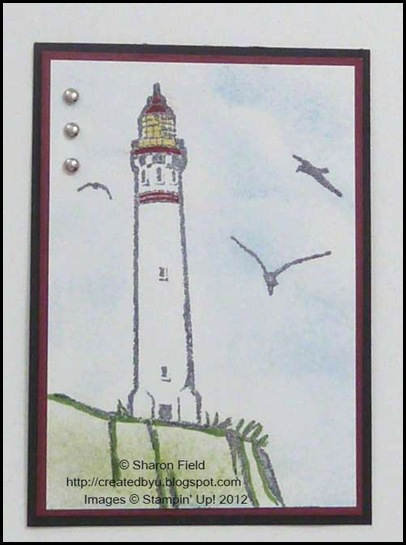 ATC Lighthouse from Uncharted Territory Stamp set
