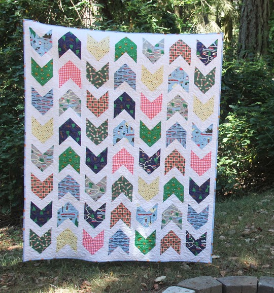 Pow Wow Quilt with Take a Hike fabrics