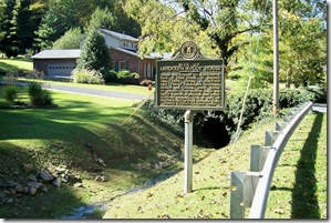 Site of Randolph McCoy House markers along the creek