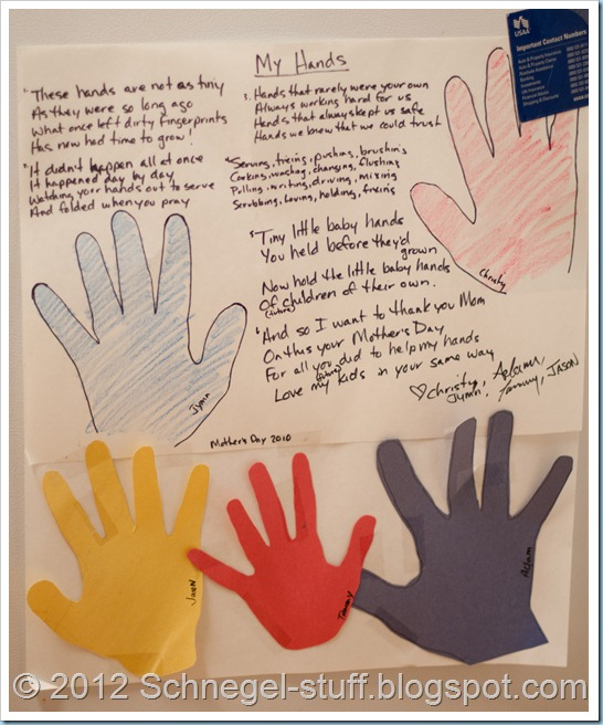 schnegel stuff my hands a mother s day poem from grown up kids