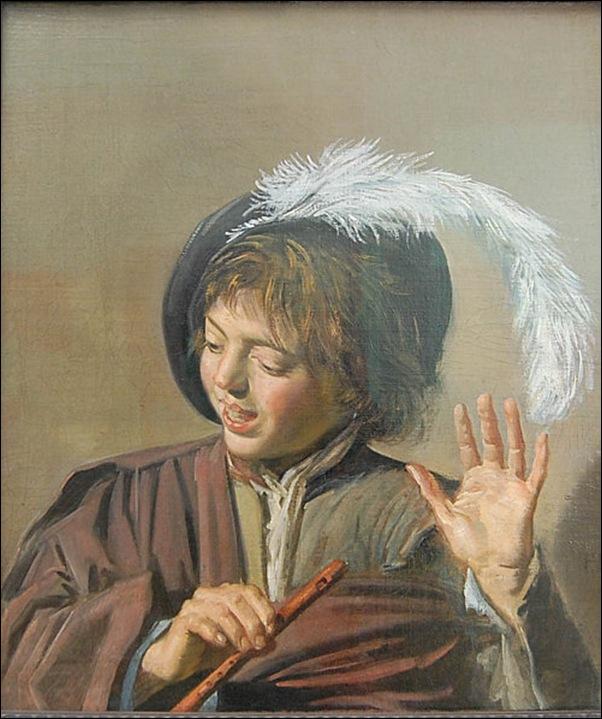 Frans Hals, jeune homme à la flûte