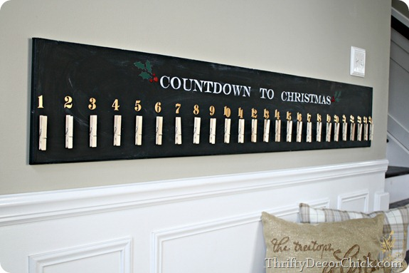 do it yourself pottery barn advent at @thriftydecorchick