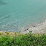 cliff edge at scarborough bluffs in Toronto, Ontario, Canada
