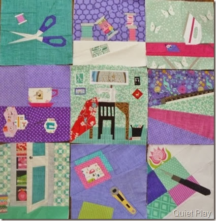 And Sew On blocks by Kristy @ Quiet Play