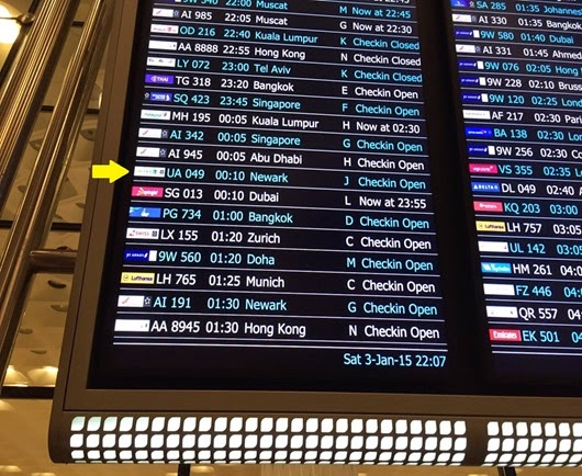 Locate Flight by following the Departure time