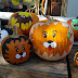 Painted pumpkins at the patch
