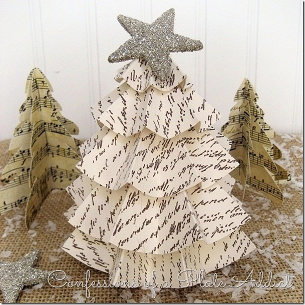 CONFESSIONS OF A PLATE ADDICT Easy Vintage Paper Trees