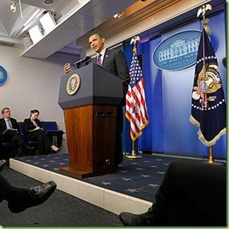 obama news conference set