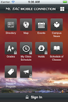 Screenshot of MountieApp
