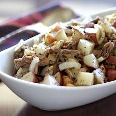 Roasted Italian Apples and Potatoes with Pork