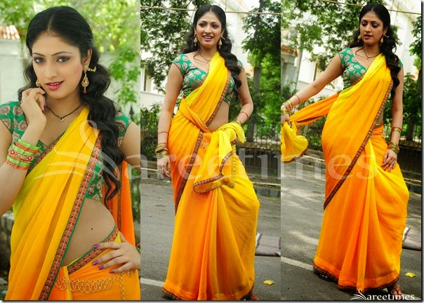 Hari_Priya_Yellow_Georgette_Saree