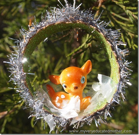 #NUO2012 Vintage Deer Christmas Ornament