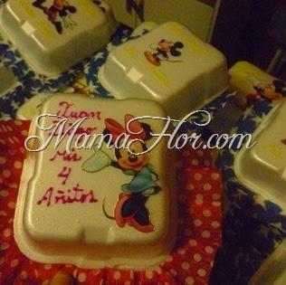 Cajitas de torta: de la Minnie y Mickey