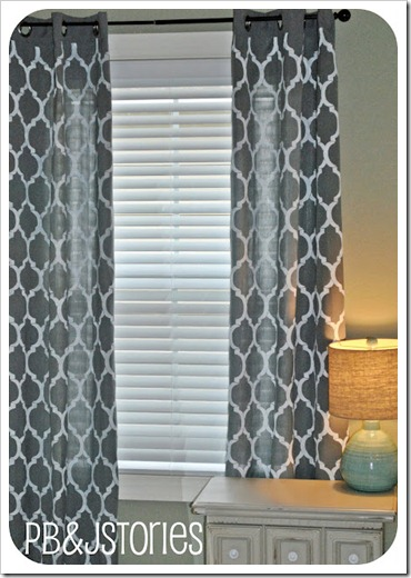 Cutting Edge Stencils painted stenciled curtains