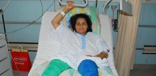 Happée par un train et sauvée par son handicap