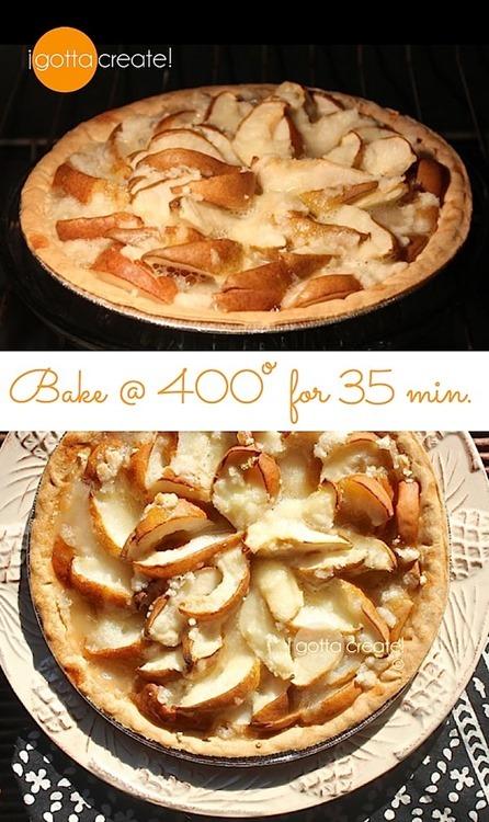 bake pear tart at I Gotta Create