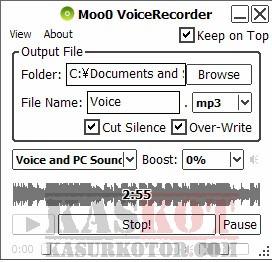 Merekam Suara di Komputer dengan Moo0 VoiceRecorder