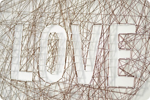 Outlined Letters String Art