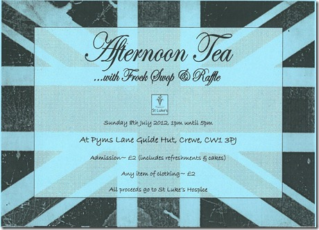 Afternoon Tea - Sunday 8th July 2012 - 1-5pm