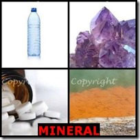 MINERAL- 4 Pics 1 Word Answers 3 Letters