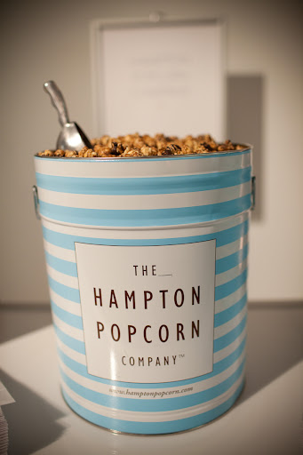 The Hampton Popcorn Company provided all different kinds of delicious popcorn for guests to munch on or take home with them.
