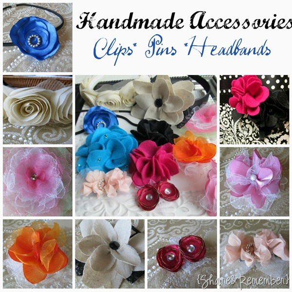 Handmade Ribbon Clips & Pins