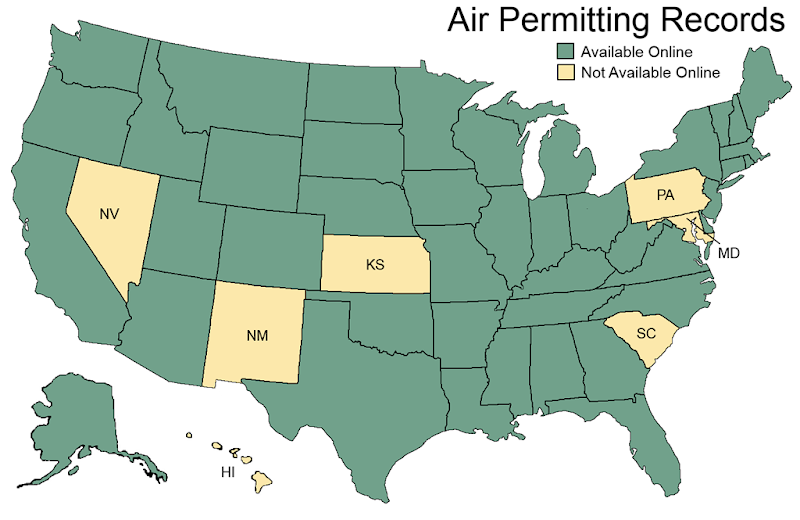 State EPA Website with permits available online (updated