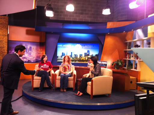Adopt-a-Pet.com's Abbie Moore on Kansas City morning show to launch Royals Adoption supporting campaign sponsored by Bayer.
