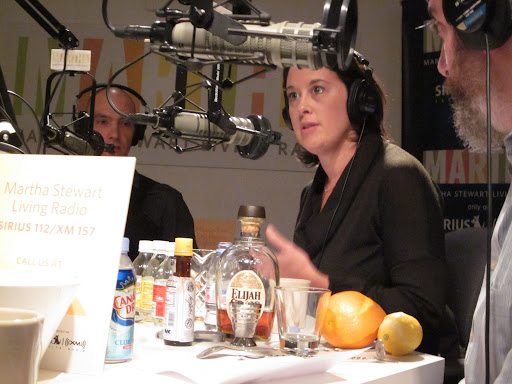 On the air, our three barkeeps were surrounded by fruits, liquors, and sodas.