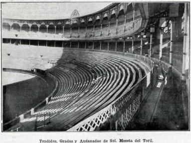 1916-02-27 Monumental Tendidos, gradas y andanadas de Sol (La lidia)