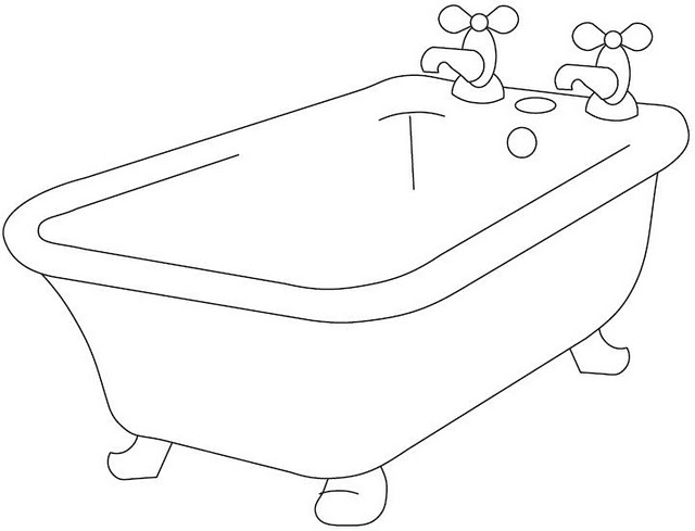 coloring pages bathtubs - photo#8