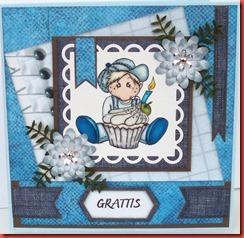 Blått spill-kort