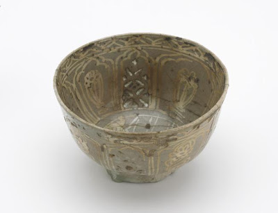 Bowl | Origin:  Probably Iran | Period: 17th-18th century | Details:  Not Available | Type: Stone-paste painted over glaze | Size: H: 8.1  W: 14.1  cm | Museum Code: F1903.195 | Photograph and description taken from Freer and the Sackler (Smithsonian) Museums.