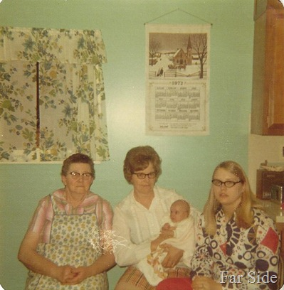1972 Four generations Elsie Madeline Trica Connie