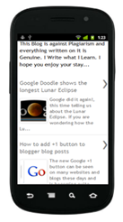 Mobile Template version of my blog