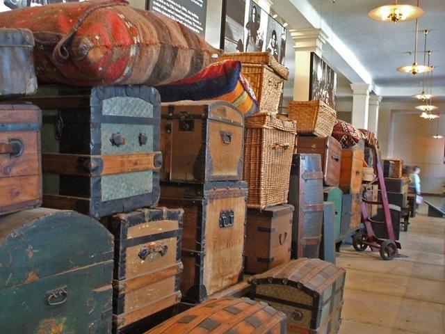 Luggage at Ellis Island