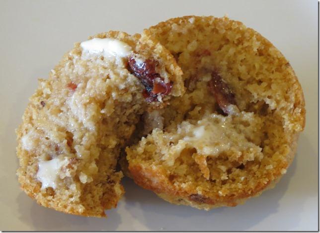 Quinoa Cranberry Pecan Muffins 1-28-13