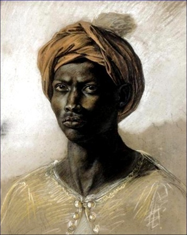 Eugène Delacroix, Portrait d'homme noir