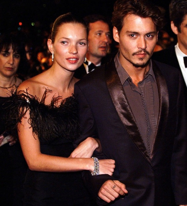 Kate Moss e Johnny Depp