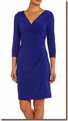 Lauren Ralph Lauren Blue Jersey Long Sleeved Dress