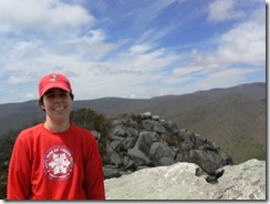 Me on the summit (not sure my dad could have taken a worse pic if he tried, but it's the only one I've got!)