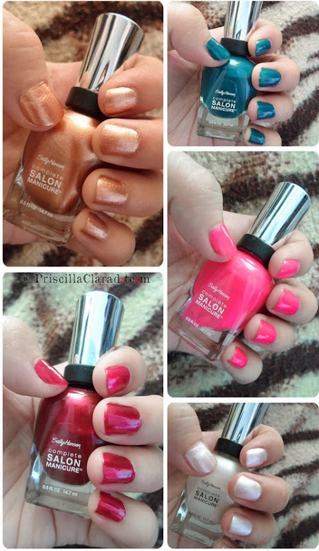 Priscilla Clara beauty blogger review Sally Hansen nail polish all