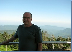 0329 Tennessee-North Carolina border - Smoky Mountain National Park - Clingmans Dome Rd - Observation Tower on top Clingmans Dome - Bill