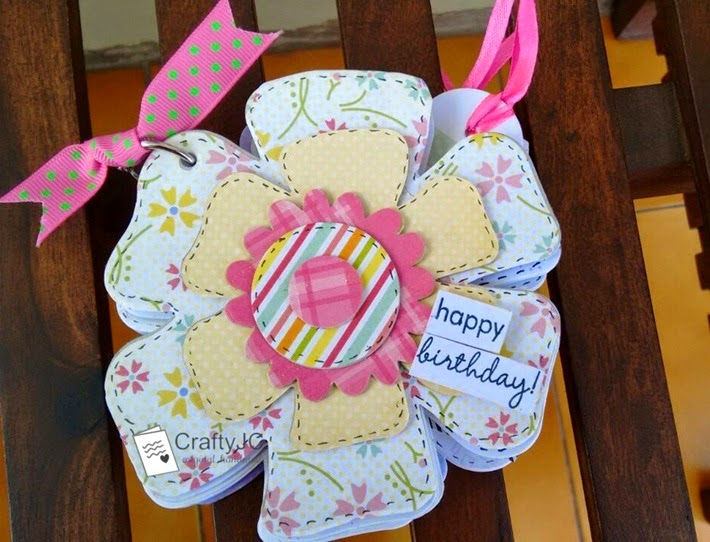 CraftyJC Shaped Mini Birthday Scrapbook 1